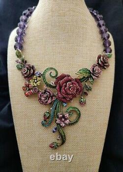 Heidi Daus Blooming Love Beaded Crystal Drop Necklace Beyond Beautiful