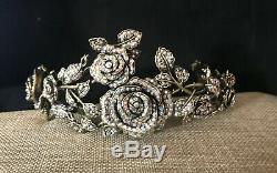 Heidi Daus Blooming Romance Pave Crystal RoseTiara/Headband/Crown NWT RET$360