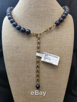 Heidi Daus Blueberry Cluster Crystal Drop Necklace NWT Beautiful Blue
