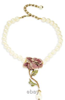 Heidi Daus Briar Rose Beaded and Crystal Necklace NWT STUNNING