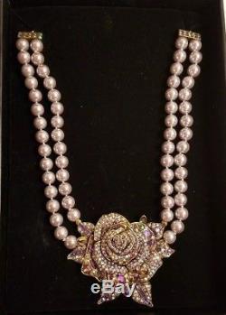 Heidi Daus Disney Beauty And The Beast Movie Swarovski Crystals Necklace NIB
