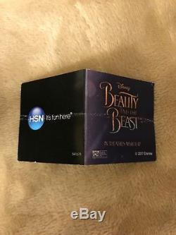 Heidi Daus Disney Beauty and the Beast Enchanted Beauty Rose Necklace NIB RARE