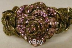Heidi Daus Disney Beauty & the Beast Pink Rose Swarovski 3pc Wardrobe Suite NIB