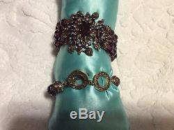 Heidi Daus Endless Beauty Necklace, Bracelet and Earring Burgundy Set