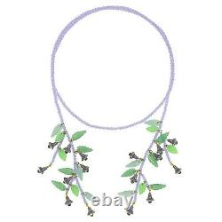 Heidi Daus Floral Bells Beaded Crystal Lariat Necklace NWT BEAUTIFUL