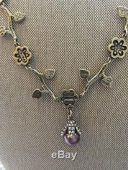 Heidi Daus Flower, Pearl, necklace beautiful