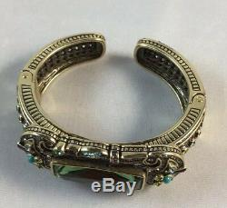 Heidi Daus Gotham Style Crystal-Accented Cuff Bracelet M/S