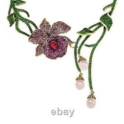 Heidi Daus Mandalay Beauty Beaded Crystal Drop Necklace NWT 179.98