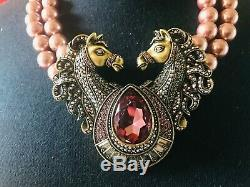 Heidi Daus NEW OFF TO THE RACES CRYSTAL NECKLACE SWAROVSKI RET$349 BEAUTY WOW