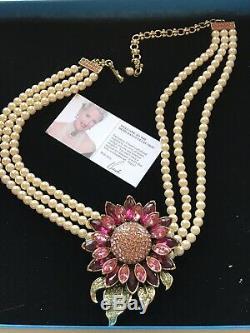 Heidi Daus Signed Divine Ms. Daisy Crystal Necklace SWAROVSKI BEAUTIFUL LAST ONE