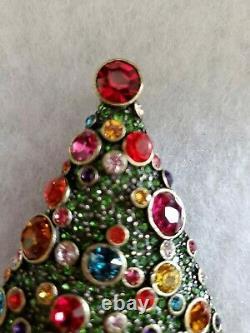 Heidi Daus Sparkling Spruce Pin SWAROVSKI CRYSTALS Beautiful Christmas Tree NWOT
