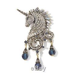 Heidi Daus Untamed Beauty Crystal Unicorn Pin