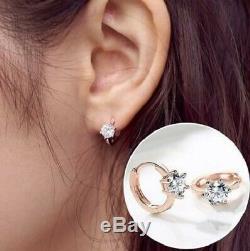 Huggie Earrings PAIR Womens Ladies Hoop Hook Small Round Jewellery Fashion Gift