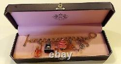 JUICY COUTURECharm Bracelet with 5 Rare & Limited Edition Food CharmsMINT