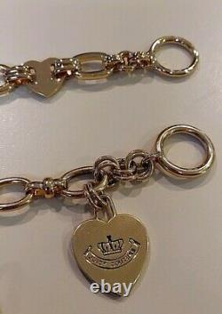 JUICY COUTURECharm Bracelets with 7 Limited Edition Rare & Retired Charms Lot
