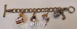 JUICY COUTUREGingerbread Candycane & Snowman Limited Edition Charm Bracelet