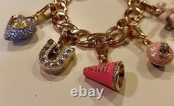 JUICY COUTUREHeart & J Charm Bracelet with 6 Rare & Limited Edition Charms