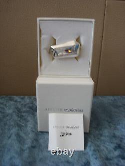Jean Paul Gaultier For Atelier Swarovski Reverse Double Ring Cry/Rhz-Sz 6,7, or 8