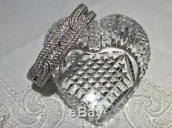 Judith Ripka 925 S. Silver Pave' Large Link Hinged Cuff Bracelet Average Size