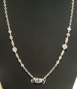 Judith Ripka 925 Sterling Silver 35 inch Multi Cut & Shape CZ's & Bracelet 7.75