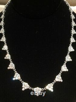 Judith Ripka 925 Sterling Silver 6.55 cttw Diamonique Necklace 18-20 Inches Long