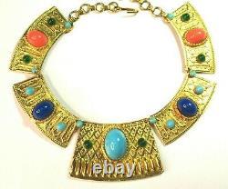 Juliana Very Rare Beautiful Egyptian revival necklace