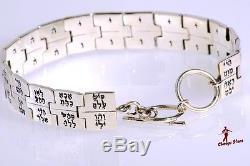 Kabbalah Bracelet of 72 GOD Names. 925 Silver BEAUTIFUL FASHION Jewelry. Hebrew