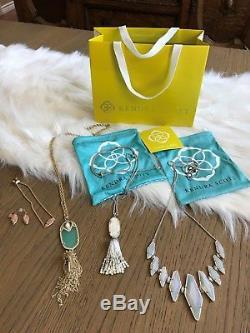 Kendra Scott 5 Pieces! Beautiful! Necklace Bracelet Earrings