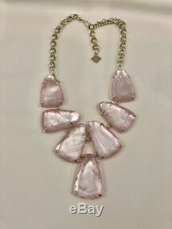 Kendra Scott Harlow Statement Necklace In Blush Mother Of Pearl NWOT