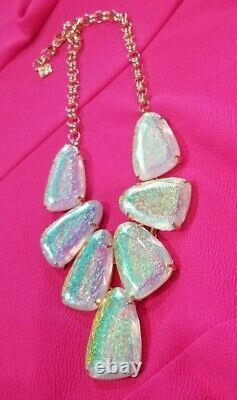 Kendra Scott Iridescent Dichroic Foil Harlow Necklace! RARE TX Limited Edition