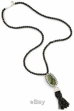 Kendra Scott Tatiana Long Pendant Necklace In Black Pearl