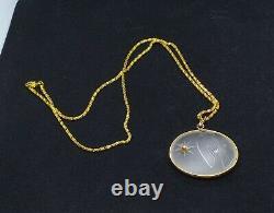 Lalique Ricci Vintage Dove Pendant /chain With Beautiful Real Diamondrare