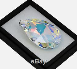 Large Pendant 925 Silver 50mm Pear Crystal Ab Crystals From Swarovski