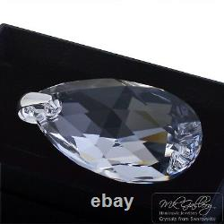 Large Pendant 925 Silver 50mm Pear Crystal Clear- Crystals From Swarovski
