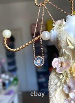 Last One Signed Monica Vinader Evil Eyes Necklace Rose Gold New In Box
