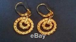 Levian earrings 5.3 g 14kt yellow gold beautiful