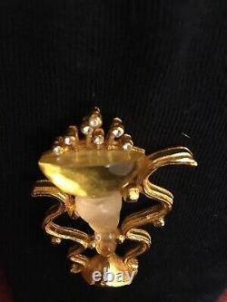 Loris Azzaro Rare Vintage Brooch Goossens Oh La La Perfume