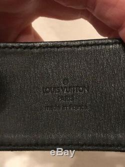 Louis Vuitton Black Satin Silk Gold Buckle Cuff Bracelet, SMALL, EXCELLENT