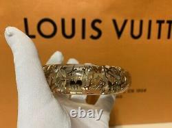 Louis Vuitton Bracelet Bangle Inclusion Clear Gold Monogram LV Beautiful Size S