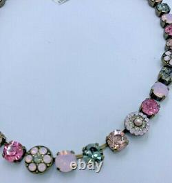 Mariana Necklace Jewelry Pink Gray Crystal Rhinestone Swarovski Valentines Day