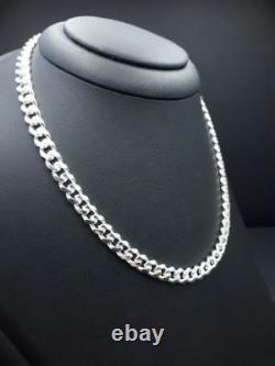 Men's Cuban Link Chain Necklace In 935 Argentium Silver For Men