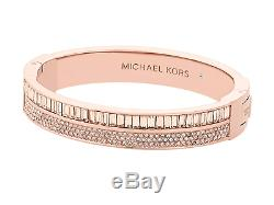 Michael Kors Rose Gold Rhinestone Bangle Bracelet BEAUTIFUL PIECE OF MK JEWELRY