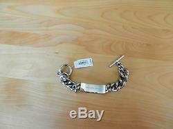 Michael Kors Silver Tone Pave Plaque Toggle Bracelet MSRP $165