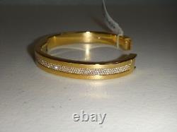 Michael Kors Women's Black Friday Gold Bangle Bracelet Crystals MKJ6227710 + BOX