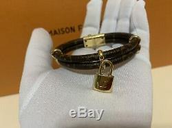 Mint LOUIS VUITTON Bracelet Bangle Keep It Twice Monogram Gold Authentic Beauty