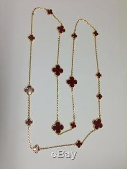 Mix size carnelian motif necklace