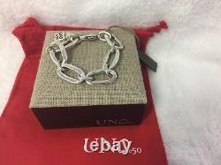 NEW Uno de 50 Awesome Oval Link Bracelet Silver Plated PUL0949MTL0000M Woman