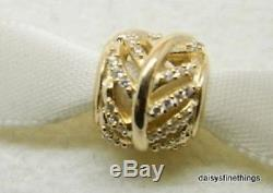 NEWithTAGS AUTHENTIC PANDORA CHARM LIGHT AS A FEATHER 14K GOLD #750831CZ HINGE BOX