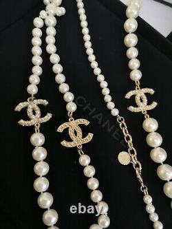 NIB CHANEL 100th Anniversary Classic 3 CC Loge Chain Classic Pearl Necklace