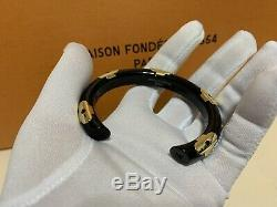 NWOT Limited Louis Vuitton Daily Monogram M size Black Bangle Bracelet Beautiful